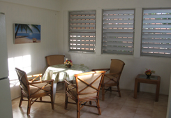 Vieques PR villa rental: Casa Panchita dining room