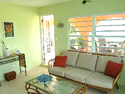 Vieques PR villa rental: Hilltop Hacienda indoor living room
